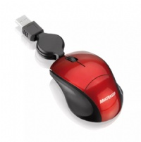 Mouse Mini Optico Usb Retratil Fit Preto/vermelho Multilaser - MO157