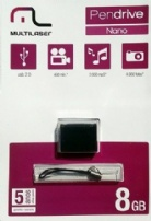 Pen Drive 8gb Nano Preto - Multilaser - PD053