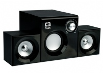 Caixa De Som 2.1 8w Rms Subwoofer Sp-222bs Preto C3tech - SP-222BS