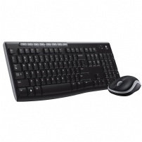Teclado E Mouse Logitech Wireless Mk270 Preto - MK270