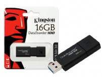 Pen Drive 16gb Usb 3.0 Dt100g3 Preto Kingston - DT100G3/16GB