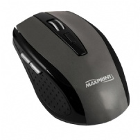 Mouse Wireless 1200 Dpi Preto/prata - Maxprint - 607612