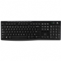 Teclado Logitech Wireless Multimidia K270 Preto - K270
