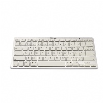 Teclado Multimidia Mini Bluetooth Branco/prata Maxprint - 6011262