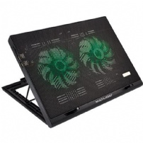 Suporte P/ Notebook C/ Cooler Warrior Power Gamer Led Verde - AC267