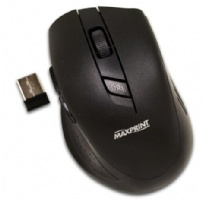 Mouse Wireless 1600dpi 5 Botoes Preto - Maxprint - 6012254