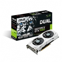 Placa De Video 6gb Gddr5 192 Bits Gtx 1060 Dual - Asus - DUAL-GTX1060-O6