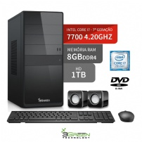 Desktop Core I7 7700 4.2 Ghz 8gb 1tb 3green Linux - DESKTOP I7