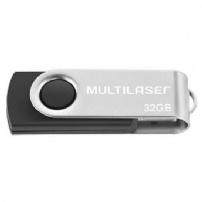 Pen Drive 32gb Twist Preto - Multilaser - PD589