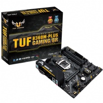 Placa Mae Asus TUF B360M-Plus Gaming/BR, LGA 1151, Ddr4, 8° Ger. - TUF B360M-PLUS GAMING/BR