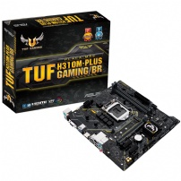 Placa Mae Asus 1151 Tuf H310m-plus Gaming/br 8/9 Ger Ddr4/usb 3.1/m.2 - TUF H310M-PLUS GAMING/BR