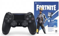 Controle P/ps4  Dual Shock 4 Wireless Oficial Preto + Pack Fortinite - CUH-ZCT2U