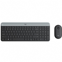 Teclado e Mouse Logitech Wireless Mk470 Slim Ultrafino, Teclas Silenciosas, Plug And Play - 920-009268 - 920-009268