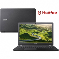 Notebook Acer Es1-572-33sj I3-7100u 4gb 1tb 15.6'' W10 Preto - COMBOES157233SJ