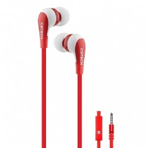 Fone de Ouvido Intra-auricular Spirit Branco e Vermelho C3 Tech Ep-06wrd