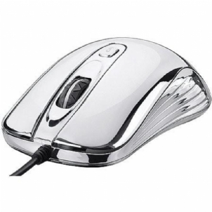 Mouse Optico Prateado Com Led Usb Multilaser